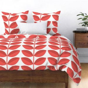 dogwood-cranberry-pattern-mockup-duvet-cover
