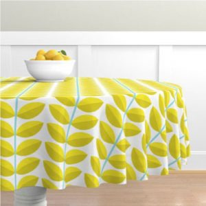 DOGWOOD YELLOW TABLECLOTH PRODUCT