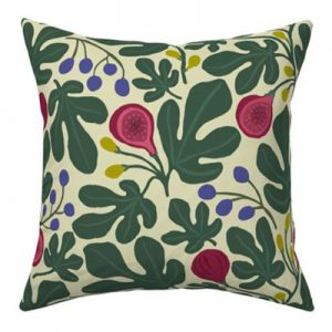 FIGS CREAM PATTERN PILLOW PRODUCT