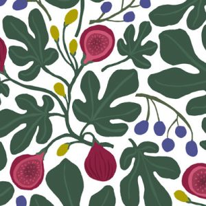 FIGS WHITE PATTERN FABRIC PRODUCT