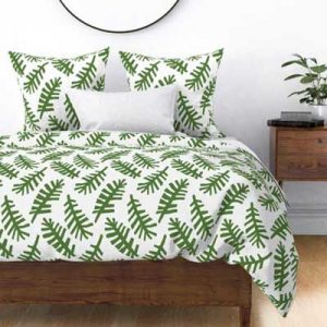 FLOATING PALM FRONDS DUVET SET PRODUCT