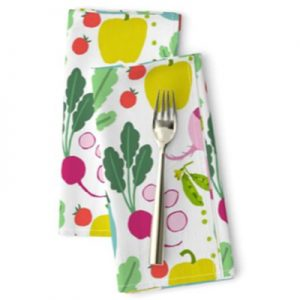 LOVE OF VEGETABLES PATTERN FABRIC PRODUCT