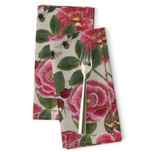 NANTUCKET ROSE HIPS PATTERN NAPKIN PRODUCT