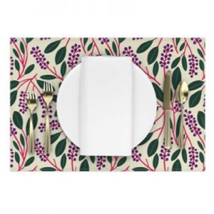POKEBERRY PATTERN PLACEMAT PRODUCT