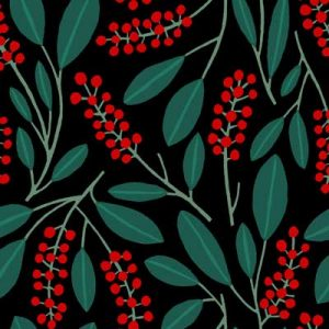 POKEBERRY RED GREEN PATTERN FABRIC PRODUCT