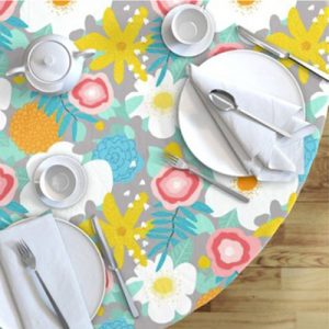 SPRING FLORAL PATTERN TABLECLOTH PRODUCT