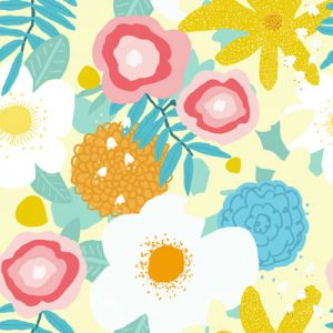 SPRING FLOWER PATTERN FABRIC PRODUCT