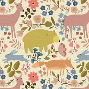 woodlan-animals-cream-fabric-pattern