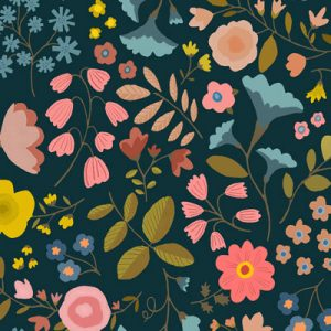 woodland-flowers-black-fabric-pattern