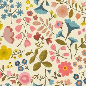 woodland-flowers-cream-fabric-pattern