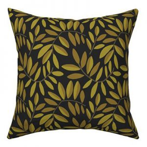 POMEGRANATE GOLD LEAVES PRODUCT PILLOW