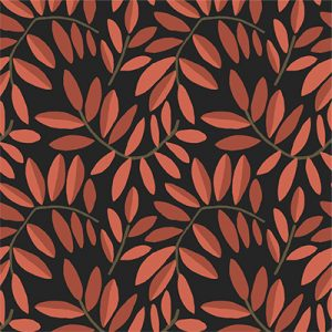 POMEGRANATE RED LEAVES FABRIC PRODUCT