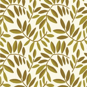 POMEGRANATE LEAVES GOLD CREAM PRODUCT FABRIC