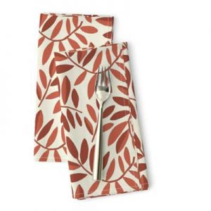 POMEGRANATE RED LEAVES PRODUCT NAPKINS