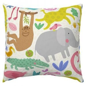 JUNGLE PARTY PATTERN EURO PILLOW PRODUCT
