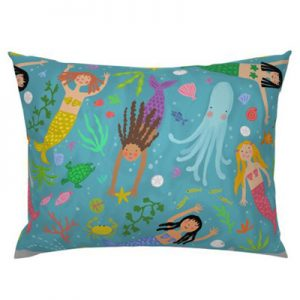 mermaid-blue pillow product